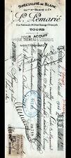 """TOURS (37) BLANC & LINGERIE """"Maison BEAUTE & Cie / L. LEMARIE Succ"""" Traite 1913"""