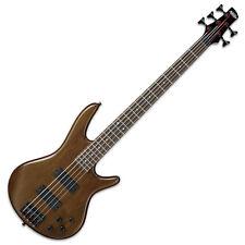 Slightly Ibanez Gsr205b-wnf Bass Guitar 5 String Walnut Flat