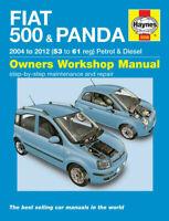 Fiat 500 & Panda 2004 - 2012 Haynes Workshop Service Repair Manual