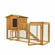 Ogrmar Chicken Coop Large Wooden Outdoor Bunny Rabbit Hutch Hen Cage with Ven...