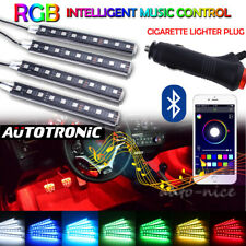 LED Atmosphere Neon Strip Light Wireless APP Control Interior Cigarette Lighter