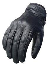 Revolver Black Short Cruiser Motorcycle Summer Bobber Gloves Busa Bikers Gear