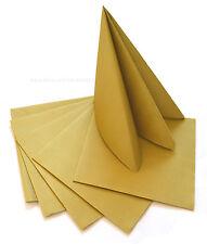 12 oder 50 Servietten GOLD Premium Stoffähnlich Hochzeit Weihnachten 40x40 cm