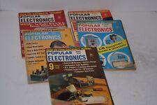 Set of 5 Vintage 1961-1962 Popular Electronics Magazines