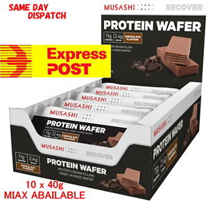 MUSASHI PROTEIN WAFER 10x BAR MIX AVAILABLE CHOCOLATE / VANILLA Low Carb / HIGH