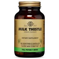 Solgar Milk Thistle 100 Vegetable Capsules FREE US SHIPPING MADE IN USA