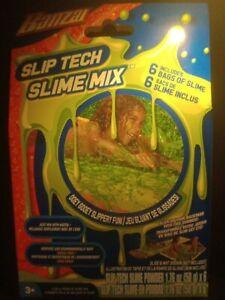Banzai Slip Tech Slime Mix (6 bags of slime) Ooey Gooey Slippery fun