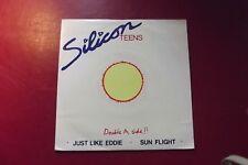 """SILICON TEENS  JUST LIKE EDDIE / SUN FLIGHT  7"""" SINGLE 1980 (MINT)"""