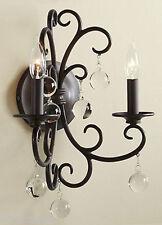 POTTERY BARN Bellora Sconce Wall Lamp Black Metal Light Loft Industrial Fixture
