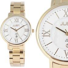 Damen Armbanduhr Weiß/Perlmutt/Gold Edelstahl JU10047 von JUST 99,95€ UVP