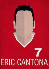 Eric Cantona Minimalist Art Print Manchester United Football Player No.7 Utd