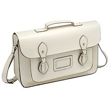 "Women Ladies Leather Handbag Satchel Bag 13"" Shoulder Black Tote Purse NEW"