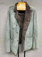 Very Warm Giorgio Armani 100% Lamb Skin Coat Jacket Size 48 IT / Medium