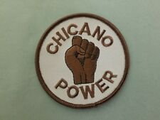 chicano power embroidered iron on patch