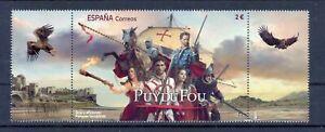Spain 2021 Puydu Fou Theme Park Tourism Costume Stamp with 2 tabs