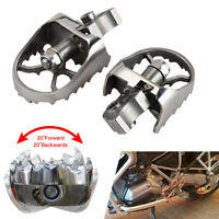 1 Pair Motorcycle Foot Pegs Rests For BMW Stainless Steel F650GS G650GS 00-12