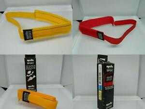 Apollo 16mm Canvas Webbed Hook & Loop Wrap Round Sports Watch Strap Red/Yellow