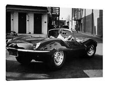 Steve McQueen - Jaguar XKSS 30x20 Inch Canvas Art - Framed Picture