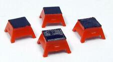 HO Rapido Bits 102066 - Passenger Step Boxes - Orange (Pkg of 4)