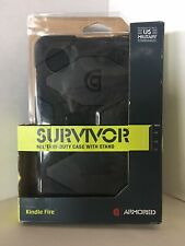SURVIVOR MILITARY DUTY CASE with Stand - For Kindle Fire - Open Box - New Unused