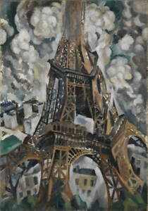 Robert Delaunay The Eiffel Tower Poster Reproduction Giclee Canvas Print