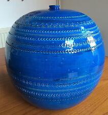 Bitossi Rimini Blue aldo londi HUGE BALL VASE italian pottery Blu