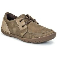 CAT Caterpillar Leroy Beaned Leather Casual Smart Mens Shoes Trainers UK7-12