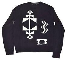 Polo Ralph Lauren Black Label Aztec Indian Sweater Linen Cashmere White Small