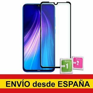 Cristal Templado Para XIAOMI REDMI NOTE 4/4X/6/7/8/9/9s/PRO/MAX NEGRO Completo