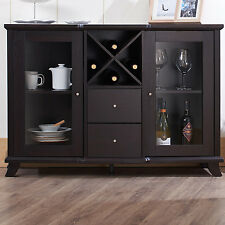 Buffet Cabinet Hutch Table Dining Kitchen Server Furniture Wine Rack Sideboard