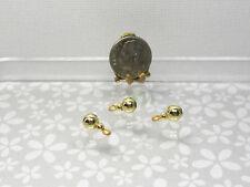 DOLLHOUSE 1:12 Miniature JASON GETZAN Brass//Copper Kitchen Colander w//Handles