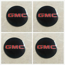 4pcs Set 3D GMC Truck Wheel Hub Center Caps Alloy decal Sticker 1500,2500,3500