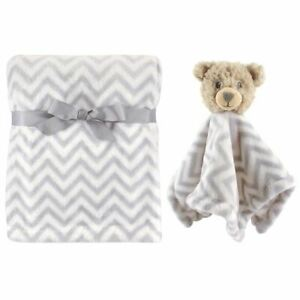 Hudson Baby Boy and Girl Plush Blanket and Animal Security Blanket, 2-Piece Set,