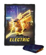 Detective Pikachu Our Love Is Electric Quote Blanket ( KIDS / MEDIUM / LARGE )