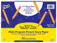 "Pacon Multi-program Picture Story Paper - 500 Sheet - 16 Lb - Ruled - 12"" X 9"" -"