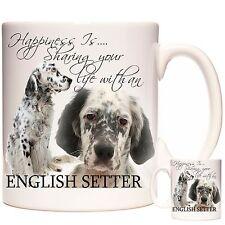 ENGLISH SETTER MUG, Can Be Personalised, Dishwasher Safe, 11oz Ceramic Mug