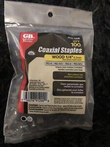 Electrical Staple 1/4 in. Corrosion Resistant Polyethylene Black (100-Pack) RG-5
