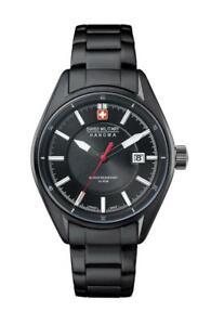 Swiss Military Hanowa Men's Black Stainless Steel Watch 10 ATM