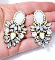 Chandelier Earrings Rhinestone Austrian Crystal 2.3 in AB