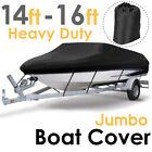 11-24ft Waterproof Boat Cover V-Hull Pontoon Runabout Fish Ski Speedboat Marine