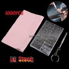 1000 PC Mini Schrauben + Schraubendreher Für Brille Uhren Reparatur Werkzeug DE
