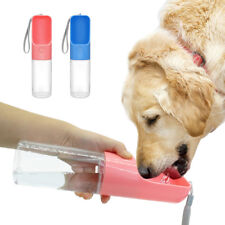 450ml Outdoor Portable Pet Water Bottle Dog Travel Feeders Drinking Bowl S-L Dog