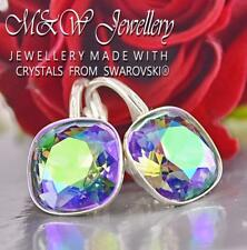 925 SILVER EARRINGS CRYSTALS FROM SWAROVSKI® FANCY STONE 10MM - PARADISE SHINE