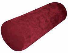 ma15g Scarlet Sofa Chenille Velvet Bolster CASE Neck Roll Cushion COVER Cus*Size