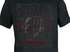 Lucky 13 Coast To Coast Indian Motorcycles Tattoo Punk Goth Fitted Shirt S