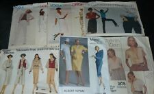 Lot of 6 Vintage Vogue Designer Sewing Patterns Womens Clothing Size 14