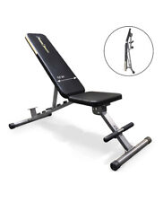 ADJUSTABLE WEIGHT BENCH FOLDABLE Flat Incline Decline HEAVY Exercise Workout