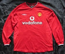 MANCHESTER UNITED Home L/S Shirt LONG SLEEVE jersey UMBRO 2000-2002 adult SIZE M