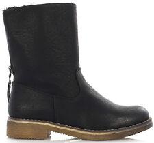 Damen Winterstiefel Basic Boots flache Stiefel Damenschuhe  warm gefüttert Neu
