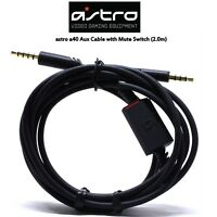 Original Astro A40 Mute switch Aux cable for Astro a40 a30 a10 TR 2.0 meters
